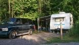 campsite Bronte Creek Provincial Park
